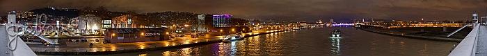 Panoramique nocturne depuis le pont Flaubert